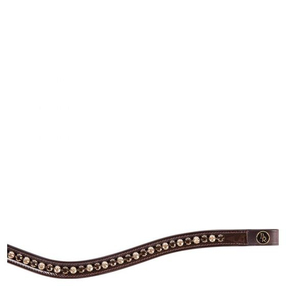 BR Curved browband Two-Tone Laqur