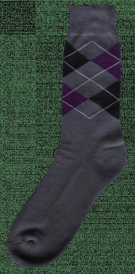 Excellent Riding sock gray / black / purple