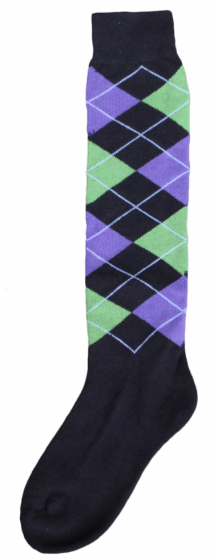 Excellent Knee socks RE black / left green / purple 43-46
