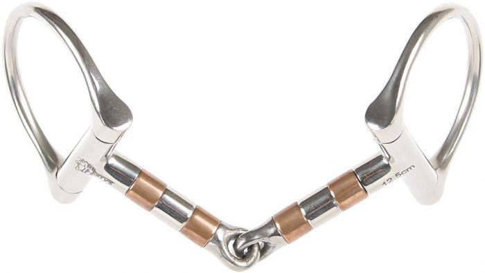 Harry's Horse D-snaffle copper rollers 13mm