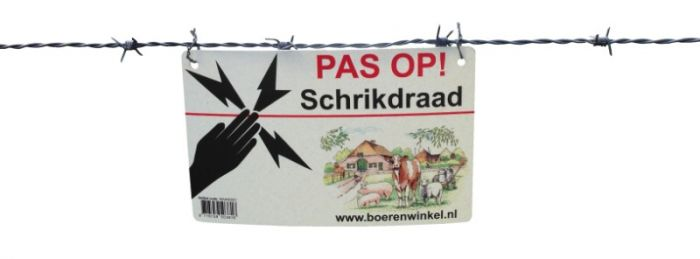 """Hofman Warning sign """"FIT ON Electric fence"""""""