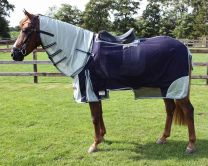 QHP Fly riding rug with a neck piece