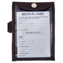 BR medical card in arm holder