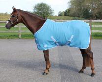 QHP  Fleece Rug color with cross surcingles Sky 215