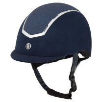 BR Riding helmet Sigma microfiber with glitter top VG1