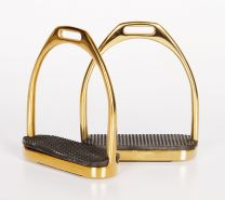 Harry's Horse Fillis stirrups stainless steel, gold coloured 12cm