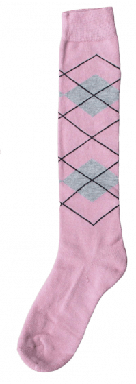 Excellent Knee socks RE l pink / l gray 43-46
