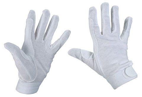 Hofman Riding Gloves Cotton White S