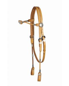 PFIFF Western bridle, rolled leather