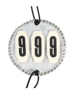 PFIFF Main numbers with rhinestones