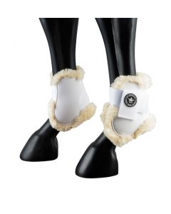 PFIFF fetlock riding boot straps with synthetic fur