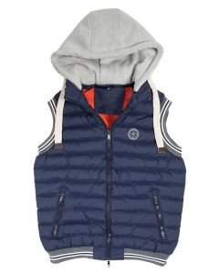 PFIFF Quilted vest with detachable hood
