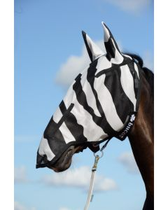 Bucas Buzz-Off Zebra Full Face Fly Mask