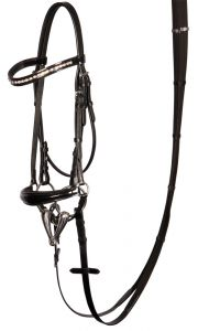 Harry's Horse Drop nose band bridle, Lacque