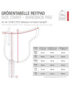 PFIFF Bareback pad with fixed handle