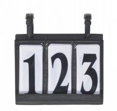Carriage number holder