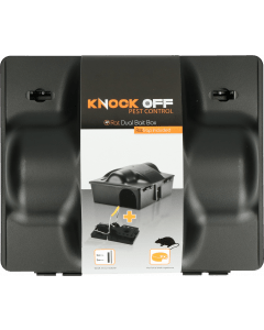 Knock Off Feed Box Rat / Mouse Dual bait incl. Rat clamp