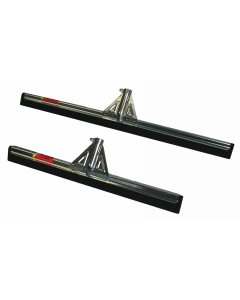 Hofman Floor squeegee with stick reinforcement.