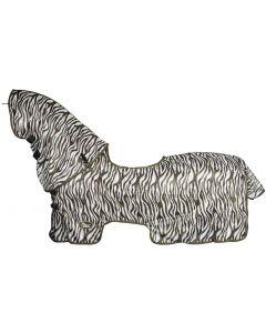 Harry's Horse Flysheet mesh with detachable neck and sheepskin sheepskin saddle pad bridoon to hog-out