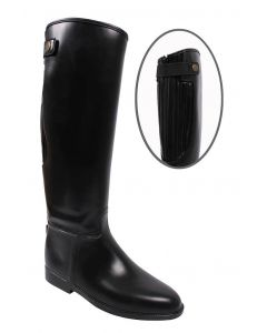 QHP Riding Boot Rubber with Zipper Adult