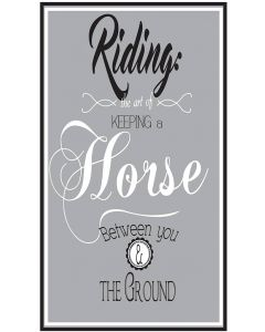 QHP Text Sign 'Riding ...'