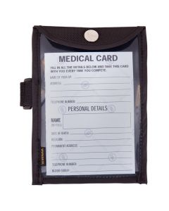 BR medical card in arm holder
