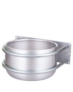 Petting bowl Peetz around alu wall mount 15ltr
