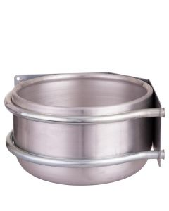 Petting bowl Peetz round aluminum corner 15ltr