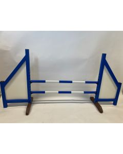 Horse jumping blue (closed) complete with two spring bars and 4 suspension brackets