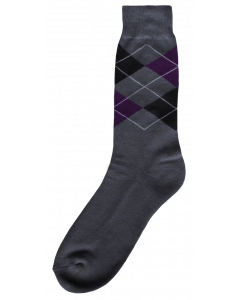 Excellent Riding sock gray / black / purple 35-38