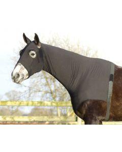 QHP Lycra neck protector Black