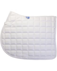 IR sheepskin saddle pad under rug versatile with strass White Full