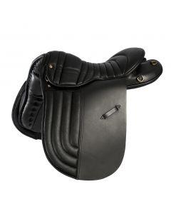 Icelandic sheepskin saddle pad with ribbed seat