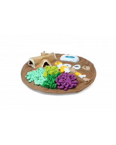 Hofman AFP Dig it - Round Fluffy mat with to hoge toy