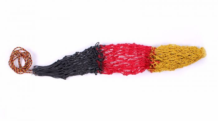 QHP  Hay Bag Triple Geel/rood/zw 120cm