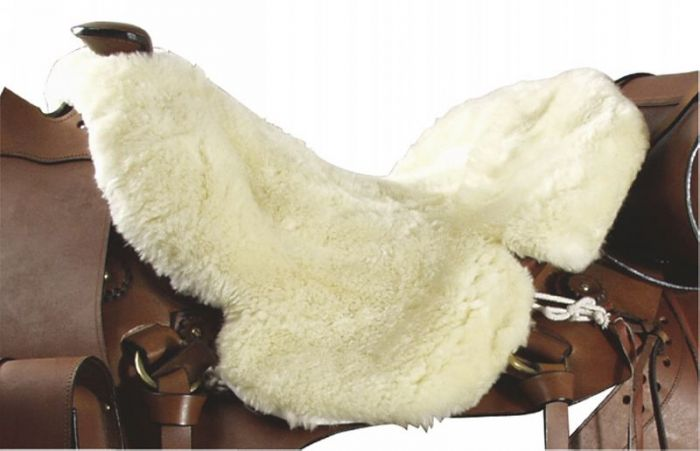 PFIFF Real lambskin western sheepskin saddle pad seat saver
